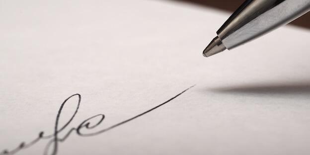Grußformeln am Ende des Briefes